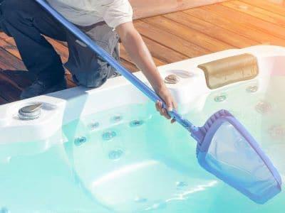 hot tub maintenance shoreline